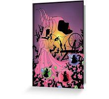 Silhouette Aurora Greeting Card