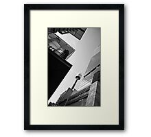 Abstract City Sky Scape Black & White Framed Print