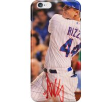 Anthony Rizzo signed photo iPhone Case/Skin