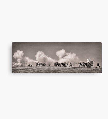 Firing of the Canons - Civil War Reenactment Canvas Print