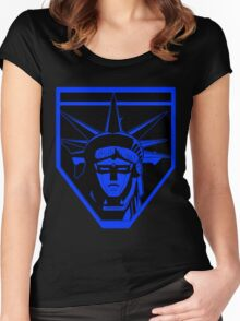 Voltron Liberty (blue) Women's Fitted Scoop T-Shirt