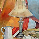 Golden Lamp I (Still Life) by Deborah Pritchett