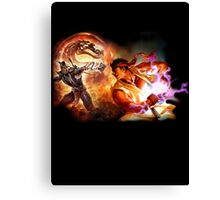 Fighting Games Collide Canvas Print