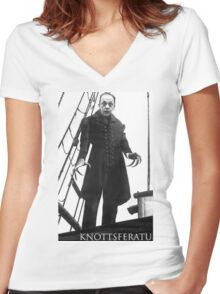 Knottsferatu Women's Fitted V-Neck T-Shirt