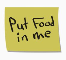 Instructions - Put food in me by Ian Marder