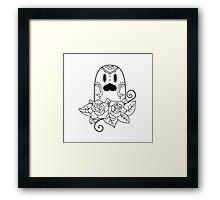 Diglett de los Muertos | Pokemon & Day of The Dead Mashup Framed Print