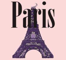 Paris, France - Eiffel Tower One Piece - Short Sleeve