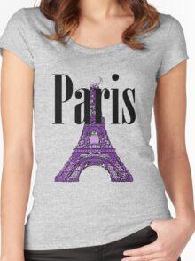 Paris, France - Eiffel Tower Women's Fitted Scoop T-Shirt