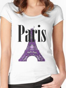 Paris, France - Eiffel Tower Women's Fitted Scoop T-Shirt