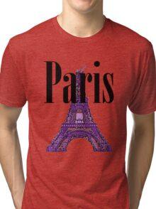 Paris, France - Eiffel Tower Tri-blend T-Shirt