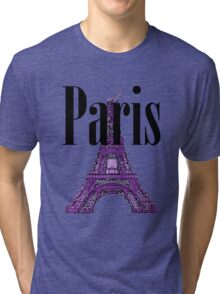 Paris, France - Eiffel Tower Tri-blend T-Shirt