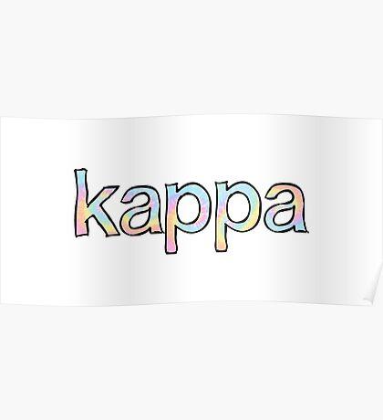 Kappa Tie Dye Poster