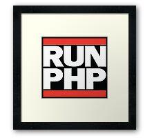 RUN PHP Framed Print