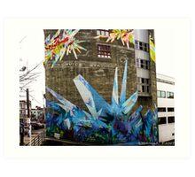 Crystal Color - Street Mural Art Print