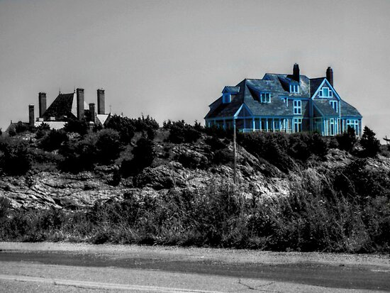 Blue Mansion By The Sea by Jane Neill-Hancock