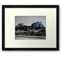 Blue Mansion By The Sea Framed Print