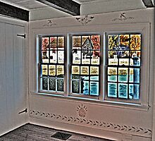 Gazing At History Through Authentic Antique Window Glass by Jane Neill-Hancock