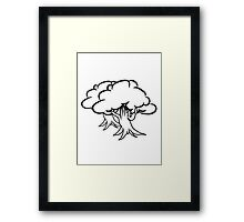 great gnarled tree group Framed Print