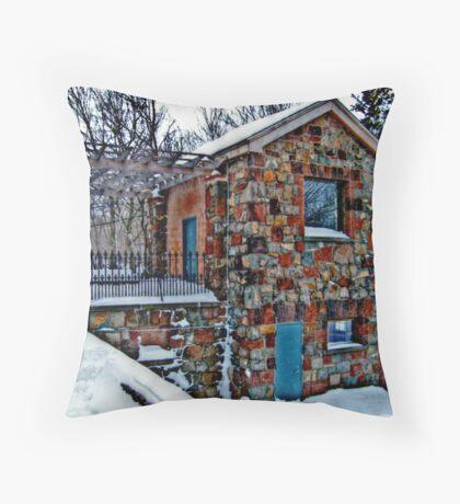 Stone Building, Garrett Mountain Throw Pillow