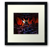 Finding my balance while the fire burns Framed Print