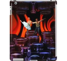 Finding my balance while the fire burns iPad Case/Skin