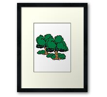 old great gnarled tree group Framed Print