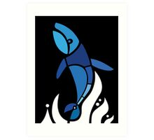 White Stories of Black Whales Art Print