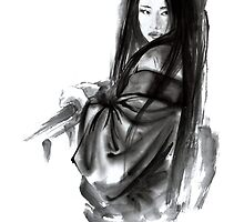 Geisha Geishacreations geisha kimono japan art print women wedding gift modern art abstract art sumi-e geisha girl geisha costume asian women by Mariusz Szmerdt