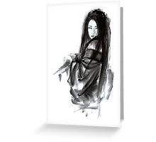 Geisha Geishacreations geisha kimono japan art print women wedding gift modern art abstract art sumi-e geisha girl geisha costume asian women Greeting Card