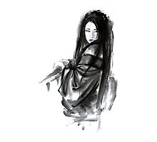 Geisha Geishacreations geisha kimono japan art print women wedding gift modern art abstract art sumi-e geisha girl geisha costume asian women Photographic Print