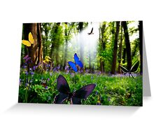 paradise in nature Greeting Card