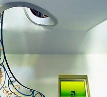 Art Nouveau Stairwell Berlin by Angelika  Vogel