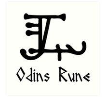 Viking Odins Rune Art Print