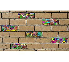 Just another brick in the wall + 5 Photographic Print