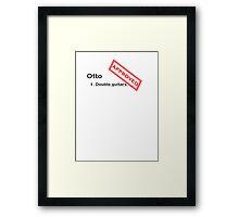 OTTO Framed Print