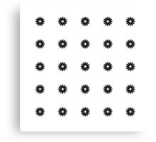 Simple Black & White Daisy Pattern  Canvas Print