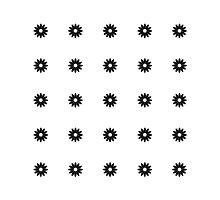 Simple Black & White Daisy Pattern  Photographic Print