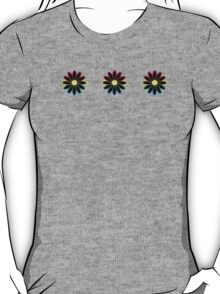 Simple Black & White Daisy Pattern  T-Shirt