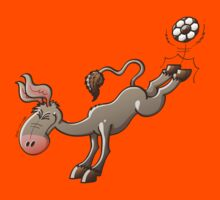 Donkey Shooting a Soccer Ball by Zoo-co