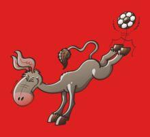 Donkey Shooting a Soccer Ball Baby Tee