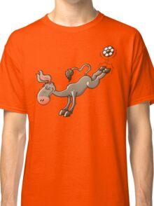 Donkey Shooting a Soccer Ball Classic T-Shirt