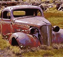 Rusty American Car by mongoliandevil