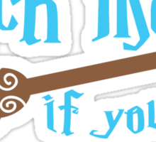 Catch me if you can broomstick Sticker
