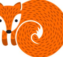 Spring Fox Sticker