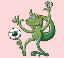 Iguana Balancing a Soccer Ball Kids Clothes