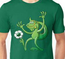 Iguana Balancing a Soccer Ball Unisex T-Shirt