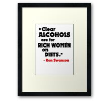 Clear Alcohols Framed Print