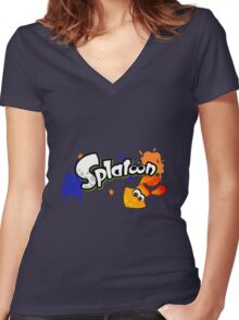 Splatoon Inkling Women's Fitted V-Neck T-Shirt