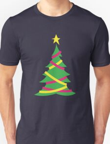 Simple decorated Christmas tree with tinsel T-Shirt