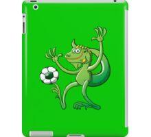 Iguana Balancing a Soccer Ball iPad Case/Skin